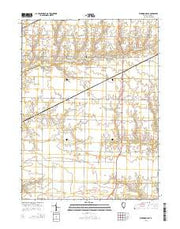 Kirkwood East Illinois Current topographic map, 1:24000 scale, 7.5 X 7.5 Minute, Year 2015 from Illinois Maps Store