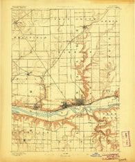 La Salle Illinois Historical topographic map, 1:62500 scale, 15 X 15 Minute, Year 1893