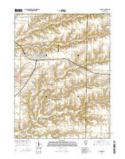 La Harpe Illinois Current topographic map, 1:24000 scale, 7.5 X 7.5 Minute, Year 2015 from Illinois Maps Store