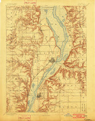 Lacon Illinois Historical topographic map, 1:62500 scale, 15 X 15 Minute, Year 1893
