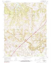 Lick Creek Illinois Historical topographic map, 1:24000 scale, 7.5 X 7.5 Minute, Year 1966