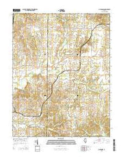 Macedonia Illinois Current topographic map, 1:24000 scale, 7.5 X 7.5 Minute, Year 2015 from Illinois Maps Store