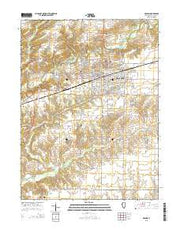 Macomb Illinois Current topographic map, 1:24000 scale, 7.5 X 7.5 Minute, Year 2015 from Illinois Maps Store