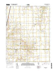 Macon East Illinois Current topographic map, 1:24000 scale, 7.5 X 7.5 Minute, Year 2015 from Illinois Maps Store