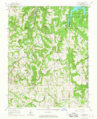 Makanda Illinois Historical topographic map, 1:24000 scale, 7.5 X 7.5 Minute, Year 1966