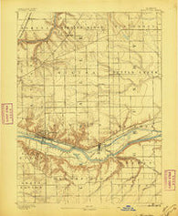 Marseilles Illinois Historical topographic map, 1:62500 scale, 15 X 15 Minute, Year 1892