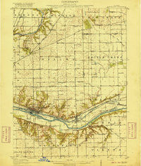 Marseilles Illinois Historical topographic map, 1:62500 scale, 15 X 15 Minute, Year 1916