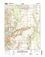 Mascoutah Illinois Current topographic map, 1:24000 scale, 7.5 X 7.5 Minute, Year 2015 from Illinois Map Store