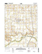 Mason City Illinois Current topographic map, 1:24000 scale, 7.5 X 7.5 Minute, Year 2015 from Illinois Map Store