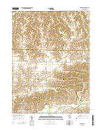 Matherville Illinois Current topographic map, 1:24000 scale, 7.5 X 7.5 Minute, Year 2015 from Illinois Map Store