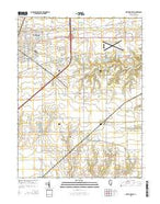 Mattoon East Illinois Current topographic map, 1:24000 scale, 7.5 X 7.5 Minute, Year 2015 from Illinois Map Store