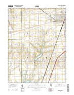 Mattoon West Illinois Current topographic map, 1:24000 scale, 7.5 X 7.5 Minute, Year 2015 from Illinois Map Store