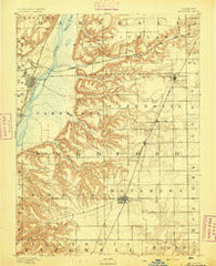 Metamora Illinois Historical topographic map, 1:62500 scale, 15 X 15 Minute, Year 1893
