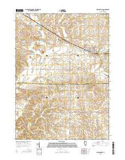 Milledgeville Illinois Current topographic map, 1:24000 scale, 7.5 X 7.5 Minute, Year 2015 from Illinois Maps Store