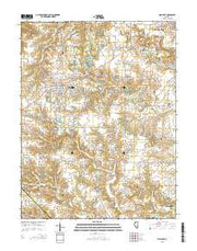Millstadt Illinois Current topographic map, 1:24000 scale, 7.5 X 7.5 Minute, Year 2015 from Illinois Maps Store