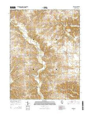 Milton Illinois Current topographic map, 1:24000 scale, 7.5 X 7.5 Minute, Year 2015 from Illinois Maps Store