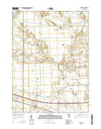 Mineral Illinois Current topographic map, 1:24000 scale, 7.5 X 7.5 Minute, Year 2015 from Illinois Map Store