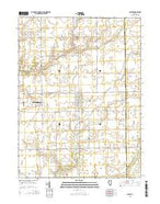 Minier Illinois Current topographic map, 1:24000 scale, 7.5 X 7.5 Minute, Year 2015 from Illinois Map Store