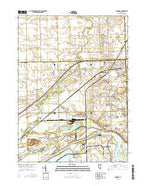 Minooka Illinois Current topographic map, 1:24000 scale, 7.5 X 7.5 Minute, Year 2015 from Illinois Map Store