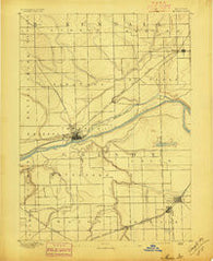 Morris Illinois Historical topographic map, 1:62500 scale, 15 X 15 Minute, Year 1892
