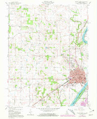 Mount Carmel Illinois Historical topographic map, 1:24000 scale, 7.5 X 7.5 Minute, Year 1959