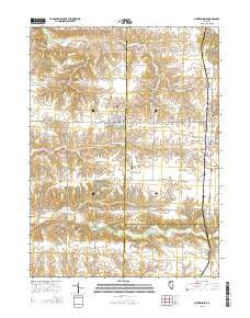 New Windsor Illinois Current topographic map, 1:24000 scale, 7.5 X 7.5 Minute, Year 2015