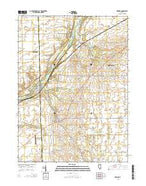 Newark Illinois Current topographic map, 1:24000 scale, 7.5 X 7.5 Minute, Year 2015 from Illinois Map Store