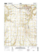 Newton Illinois Current topographic map, 1:24000 scale, 7.5 X 7.5 Minute, Year 2015 from Illinois Map Store
