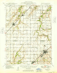 Nokomis Illinois Historical topographic map, 1:62500 scale, 15 X 15 Minute, Year 1949