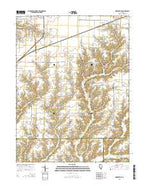Nortonville Illinois Current topographic map, 1:24000 scale, 7.5 X 7.5 Minute, Year 2015 from Illinois Map Store