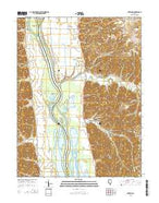 Nutwood Illinois Current topographic map, 1:24000 scale, 7.5 X 7.5 Minute, Year 2015 from Illinois Map Store