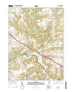 Oak Hill Illinois Current topographic map, 1:24000 scale, 7.5 X 7.5 Minute, Year 2015 from Illinois Map Store