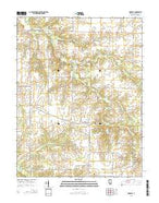 Oakdale Illinois Current topographic map, 1:24000 scale, 7.5 X 7.5 Minute, Year 2015 from Illinois Map Store