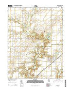 Oakland Illinois Current topographic map, 1:24000 scale, 7.5 X 7.5 Minute, Year 2015 from Illinois Map Store