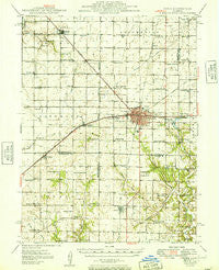 Pana Illinois Historical topographic map, 1:62500 scale, 15 X 15 Minute, Year 1949
