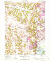 Peoria West Illinois Historical topographic map, 1:24000 scale, 7.5 X 7.5 Minute, Year 1949