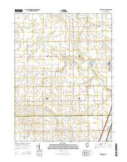 Perdueville Illinois Current topographic map, 1:24000 scale, 7.5 X 7.5 Minute, Year 2015 from Illinois Maps Store