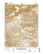 Perry West Illinois Current topographic map, 1:24000 scale, 7.5 X 7.5 Minute, Year 2015 from Illinois Maps Store