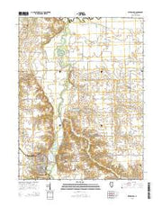 Petersburg Illinois Current topographic map, 1:24000 scale, 7.5 X 7.5 Minute, Year 2015 from Illinois Maps Store