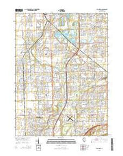 Plainfield Illinois Current topographic map, 1:24000 scale, 7.5 X 7.5 Minute, Year 2015 from Illinois Maps Store
