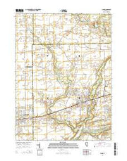 Plano Illinois Current topographic map, 1:24000 scale, 7.5 X 7.5 Minute, Year 2015 from Illinois Maps Store