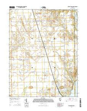 Pleasant Mound Illinois Current topographic map, 1:24000 scale, 7.5 X 7.5 Minute, Year 2015 from Illinois Maps Store