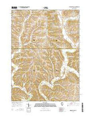 Pleasant Valley Illinois Current topographic map, 1:24000 scale, 7.5 X 7.5 Minute, Year 2015 from Illinois Maps Store