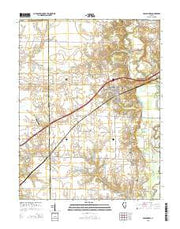 Pocahontas Illinois Current topographic map, 1:24000 scale, 7.5 X 7.5 Minute, Year 2015 from Illinois Maps Store