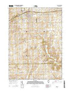Polo Illinois Current topographic map, 1:24000 scale, 7.5 X 7.5 Minute, Year 2015 from Illinois Map Store