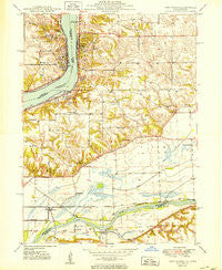 Port Byron Illinois Historical topographic map, 1:24000 scale, 7.5 X 7.5 Minute, Year 1950