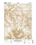 Princeville Illinois Current topographic map, 1:24000 scale, 7.5 X 7.5 Minute, Year 2015 from Illinois Map Store