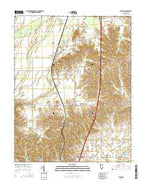 Pulaski Illinois Current topographic map, 1:24000 scale, 7.5 X 7.5 Minute, Year 2015 from Illinois Map Store
