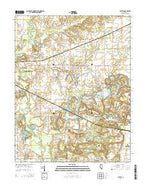 Pyatts Illinois Current topographic map, 1:24000 scale, 7.5 X 7.5 Minute, Year 2015 from Illinois Map Store