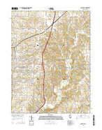 Quincy East Illinois Current topographic map, 1:24000 scale, 7.5 X 7.5 Minute, Year 2015 from Illinois Map Store